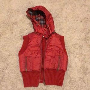 Free People hooded vest.